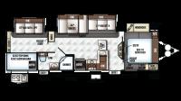2019 Flagstaff Classic Super Lite 831BHWSS Floor Plan