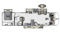 2019 Georgetown XL 377TS Floor Plan