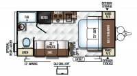 2019 Flagstaff Micro Lite XLT 19FD Floor Plan