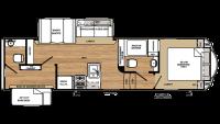 2019 Sierra HT 3350BH Floor Plan