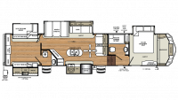 2019 Sierra 384QBOK Floor Plan