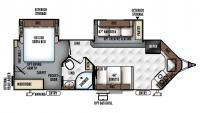 2018 Flagstaff Super V 26VFKS Floor Plan