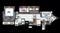 2018 Flagstaff V-Lite 30WTBSK Floor Plan