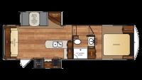 2018 Wildcat 26CK Floor Plan