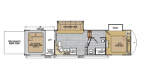 2019 XLR Nitro 29DK5 Floor Plan