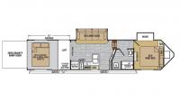 2019 XLR Nitro 35VL5 Floor Plan