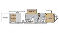 2019 XLR Nitro 36VL5 Floor Plan