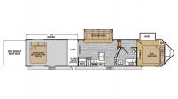 2019 XLR Nitro 38VL5 Floor Plan