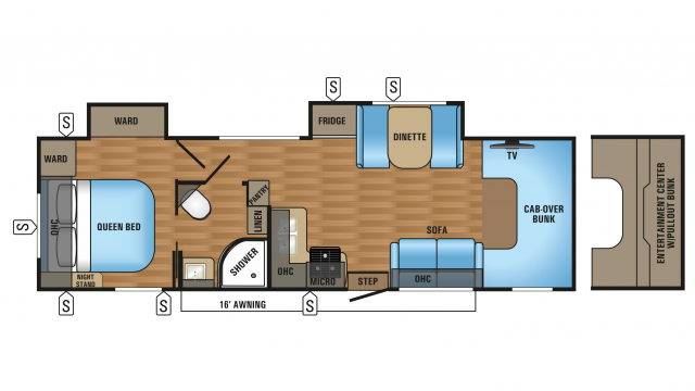 2018 Greyhawk 31DS Floor Plan