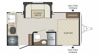 2019 Bullet Crossfire 1750RK Floor Plan