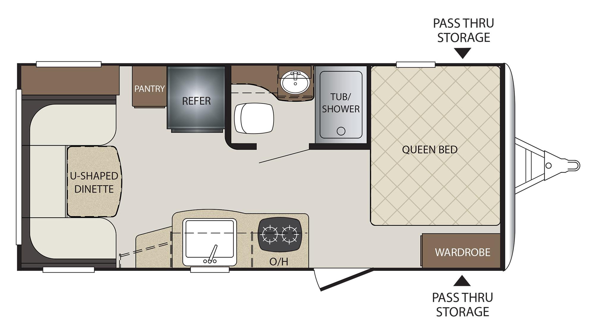 Keystone Bullet Rv Floor Plans: 2018 Keystone Bullet Crossfire 1900RD Camper