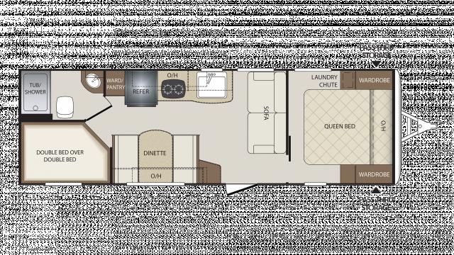 Keystone Bullet Rv Floor Plans: Keystone Bullet Crossfire 2510BH Travel Trailer Floor Plan
