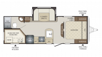2019 Bullet 243BHS Floor Plan