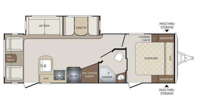 Keystone Bullet Rv Floor Plans: Keystone Bullet 269RLS Travel Trailer