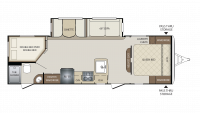 2019 Bullet 272BHS Floor Plan