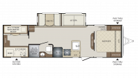2018 Bullet 287QBS Floor Plan