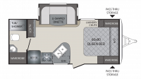 2018 Premier 19FBPR Floor Plan