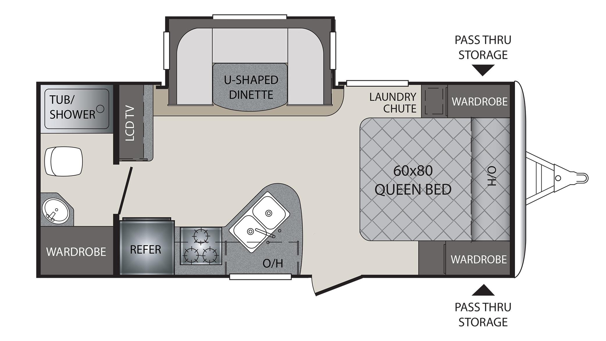 Keystone Bullet Rv Floor Plans: 2018 Keystone Premier 19FBPR Camper