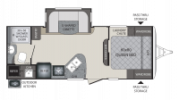 2018 Premier 22RBPR Floor Plan