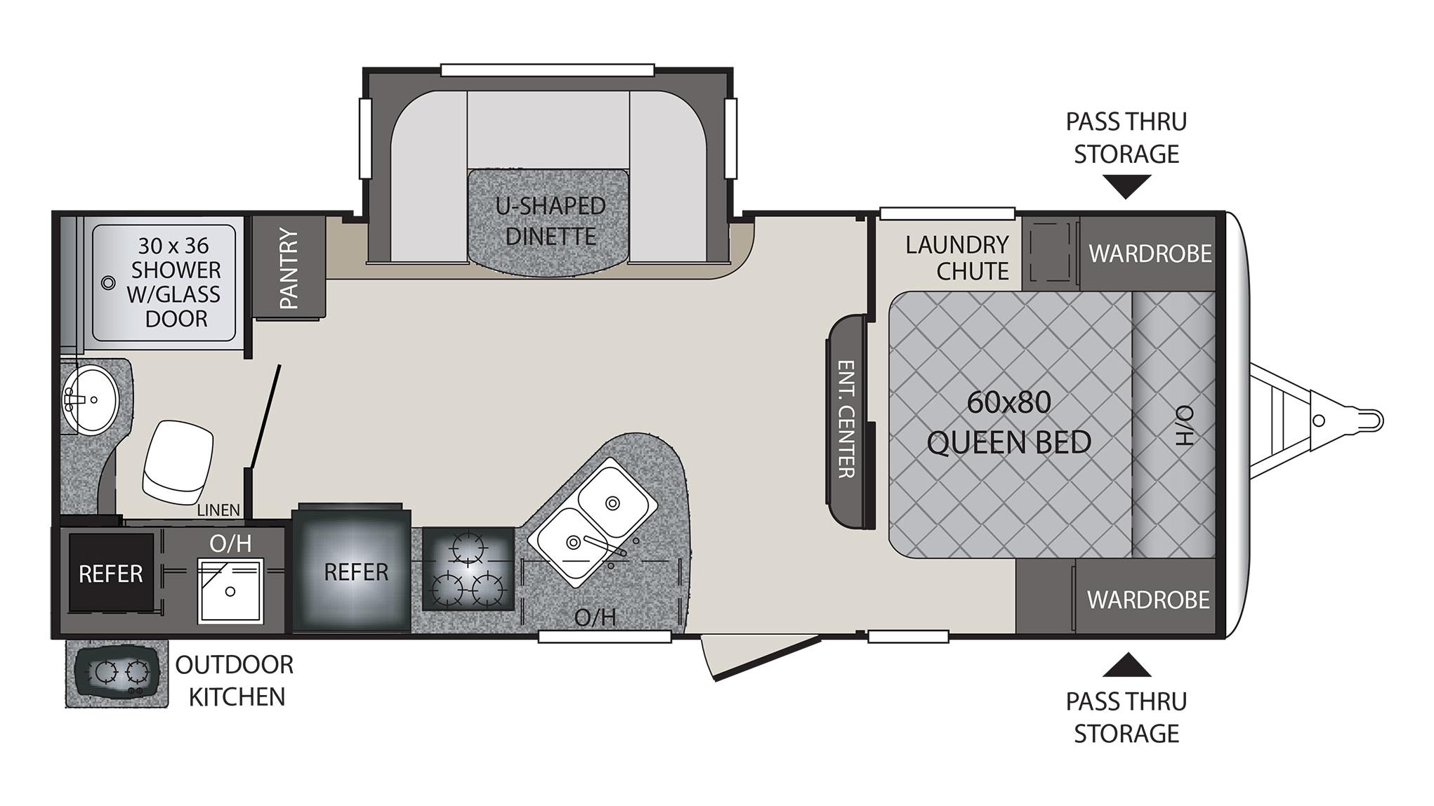 Keystone Bullet Rv Floor Plans: 2018 Keystone Premier 22RBPR Camper