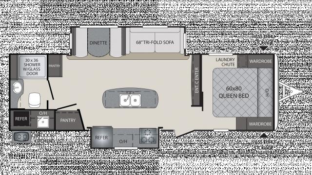 2018 Premier 26RBPR Floor Plan