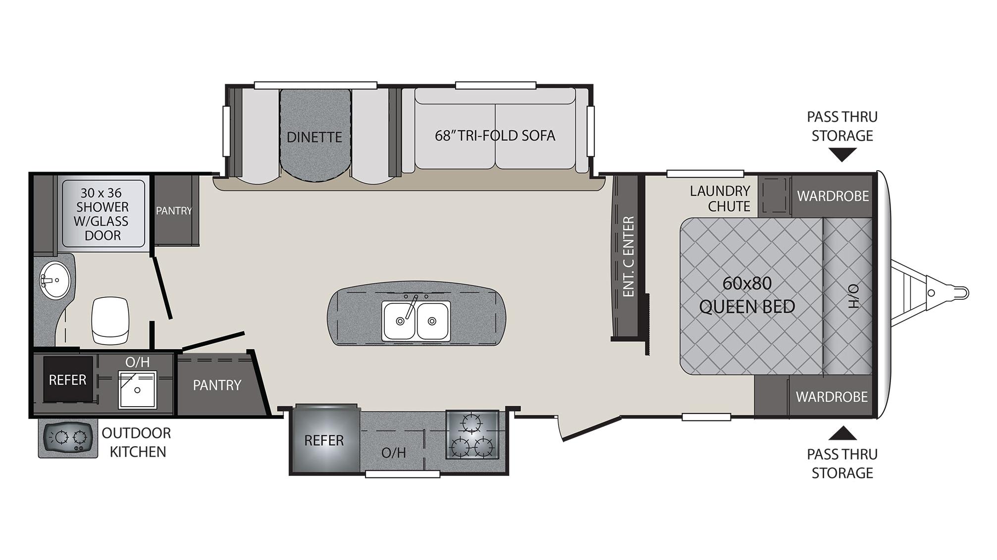 Keystone Bullet Rv Floor Plans: 2018 Keystone Premier 26RBPR Camper