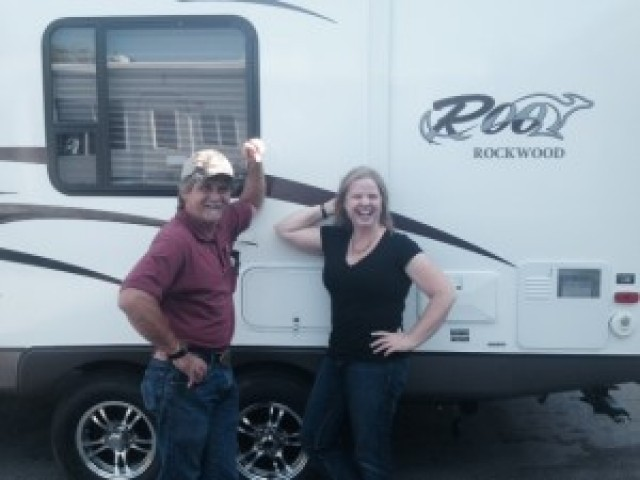 Mike of Caro with their Rockwood Roo 233S