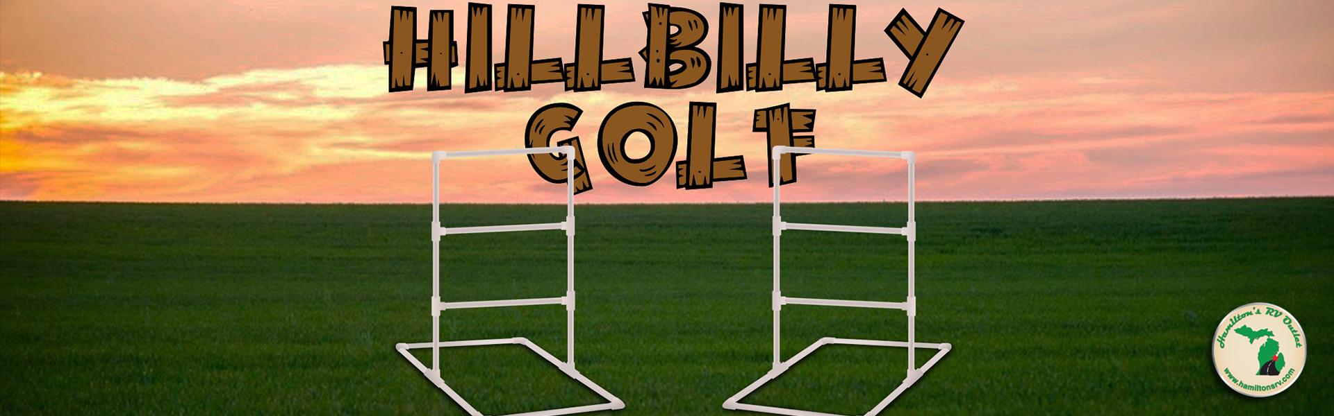 Hillbilly Golf Game Banner