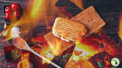 Campfire Overlaying Ingredients For Panini