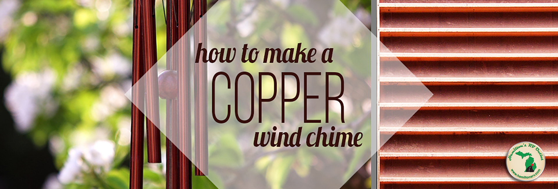 How to make copper wind chimes Banner