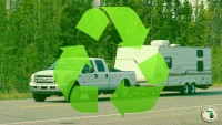 Truck And RV With Recycle Symbol