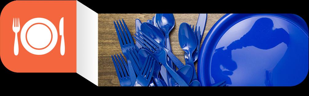 Plastic Forks Spoons Plates