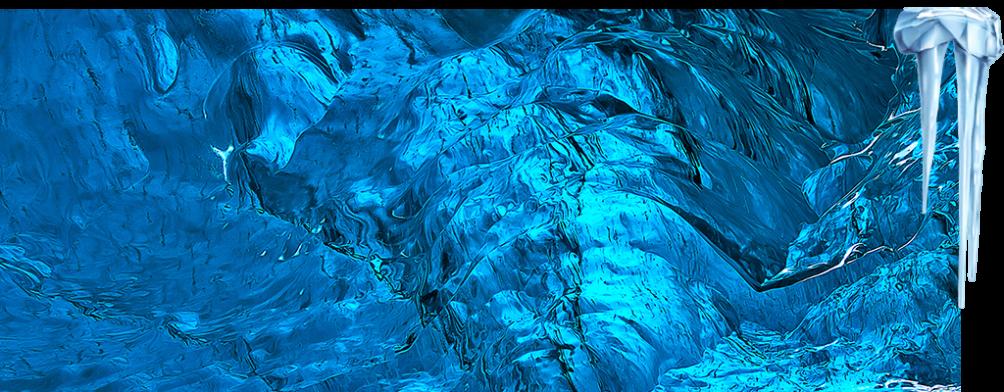 Turquoise Painted World of Mendenhall Glacier Ice Caves, Alaska