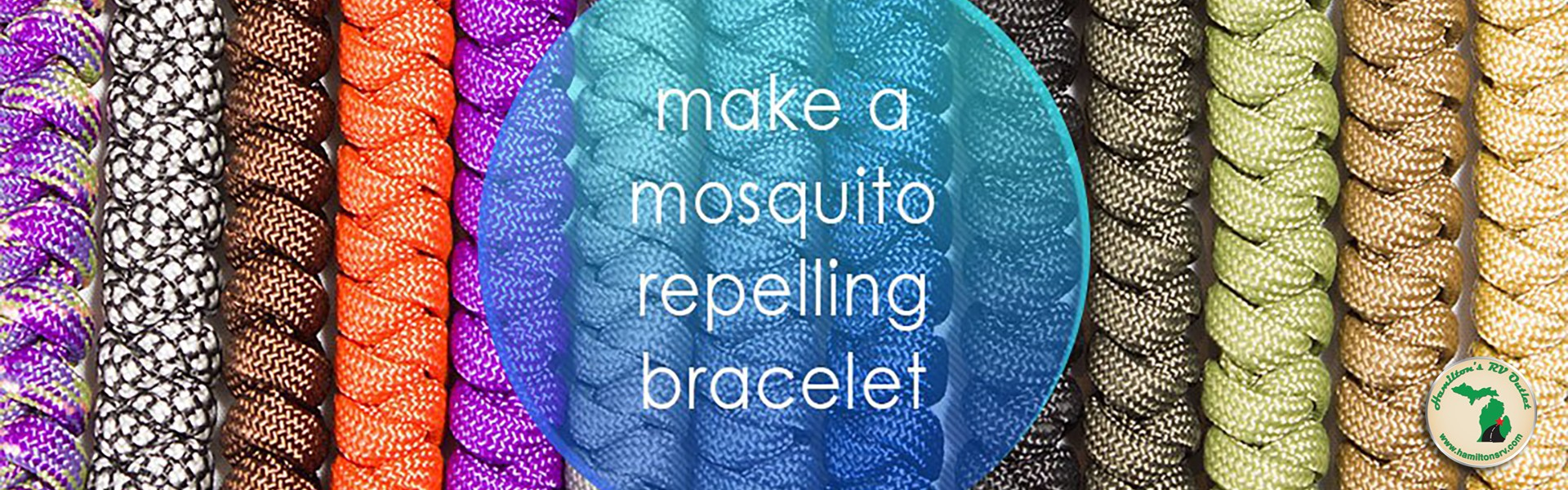 Make a mosquito repelling bracelet Banner