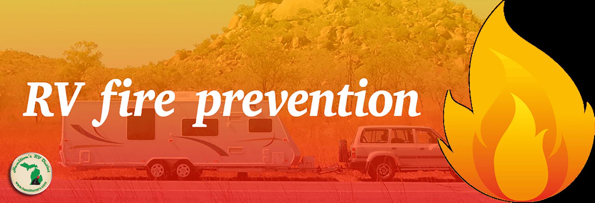 RV fire prevention Banner