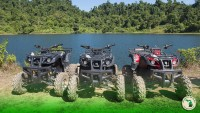 Will my toys fit in my RV Garage? four wheelers by the lake Feature