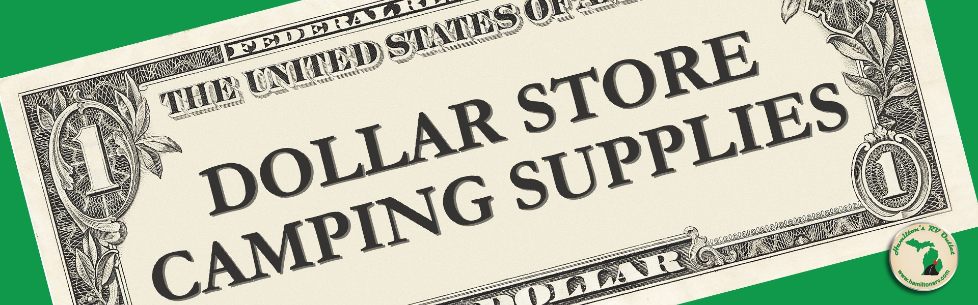 dollarstore camping supplies Banner