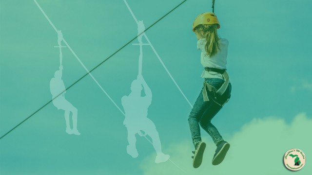 Adventure Parks Girl On Zipline Feature