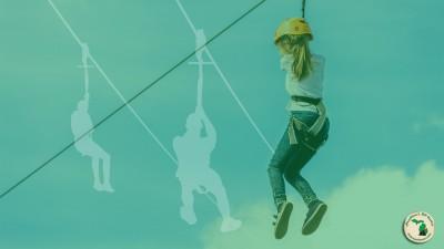 Adventure Parks girl on zipline Feature