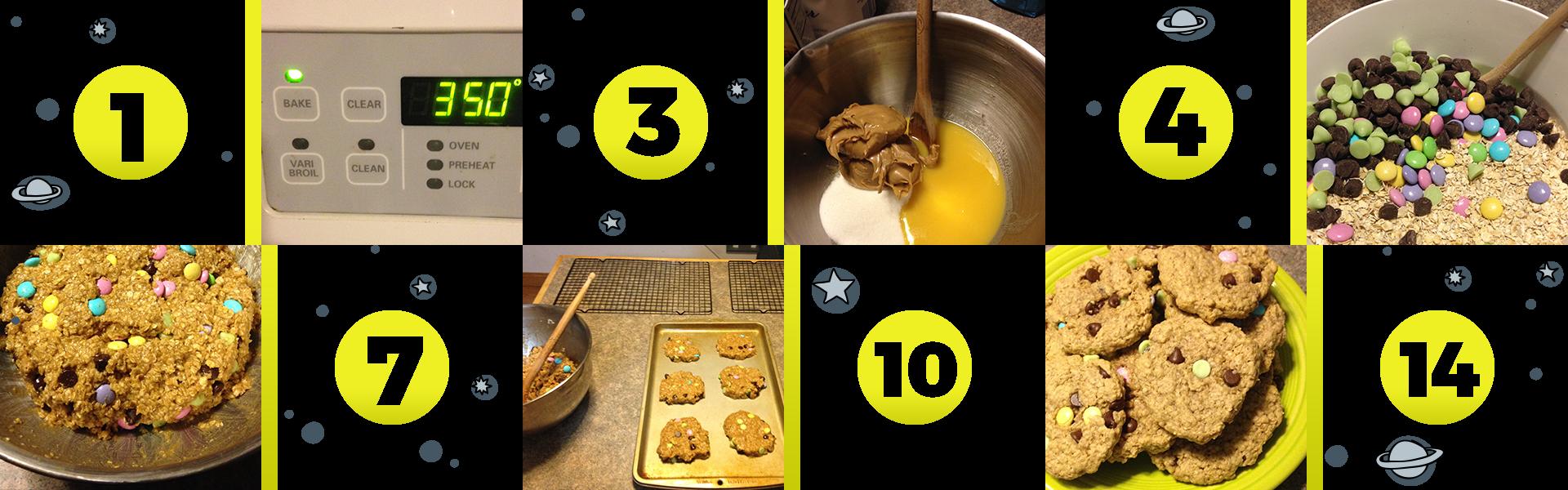 Monster Cookies Steps