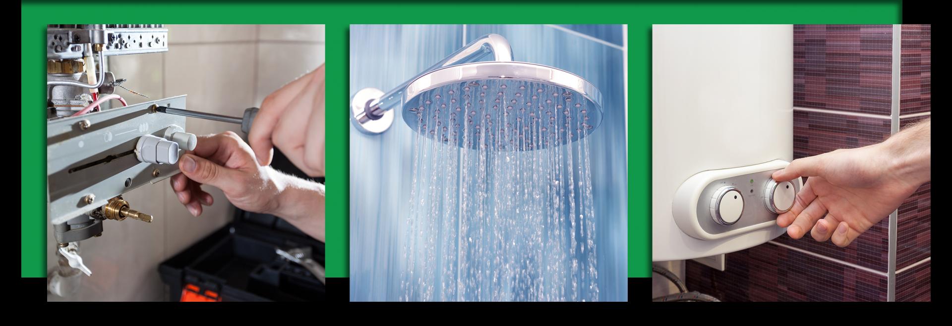 fixing water heater shower