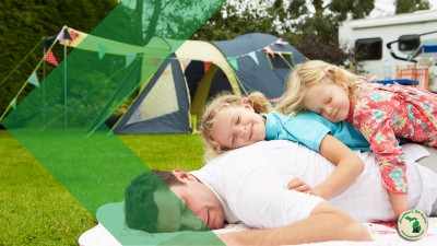 Father and daughters Camping with children that have special needs Feature