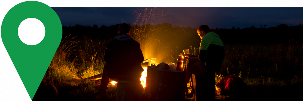 boondocking survival bonfire with friends