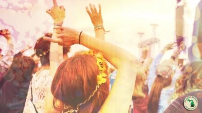 Crowd At Coachella Music Festival In California