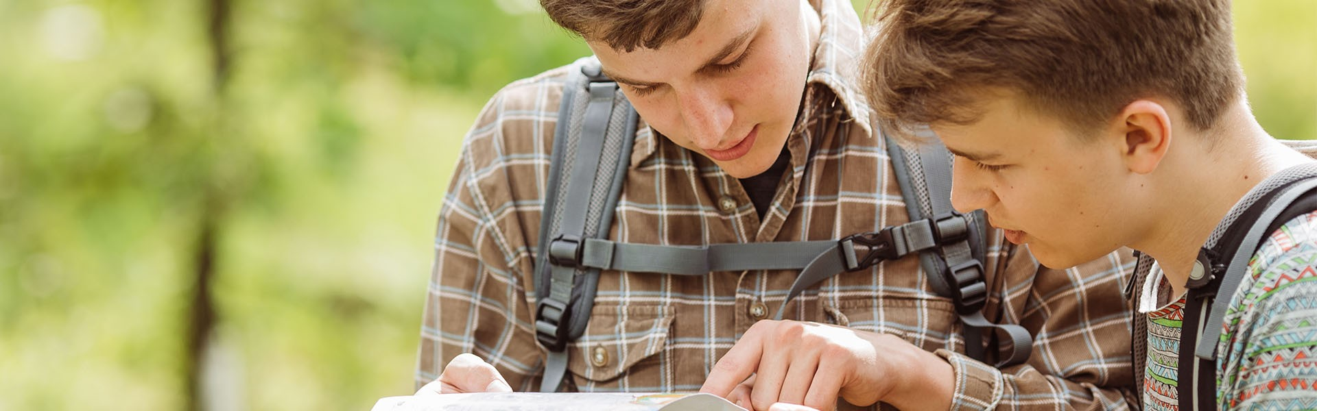 two young men playing letterboxing