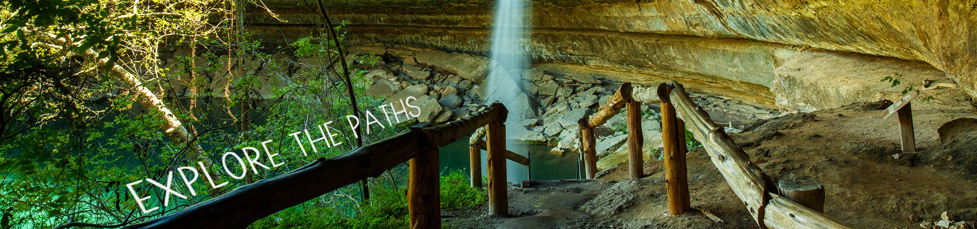 Explore the paths - walking trails at Hamilton's Pool in Texas