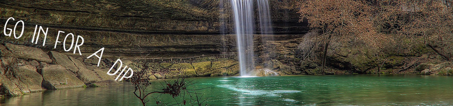 Go in for a dip - spring pool at Hamilton's Pool in Texas