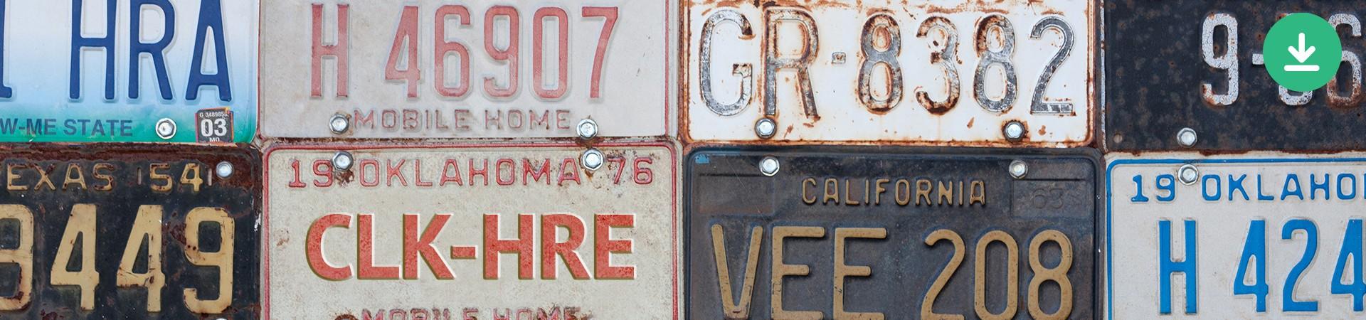 click here - vintage license plates
