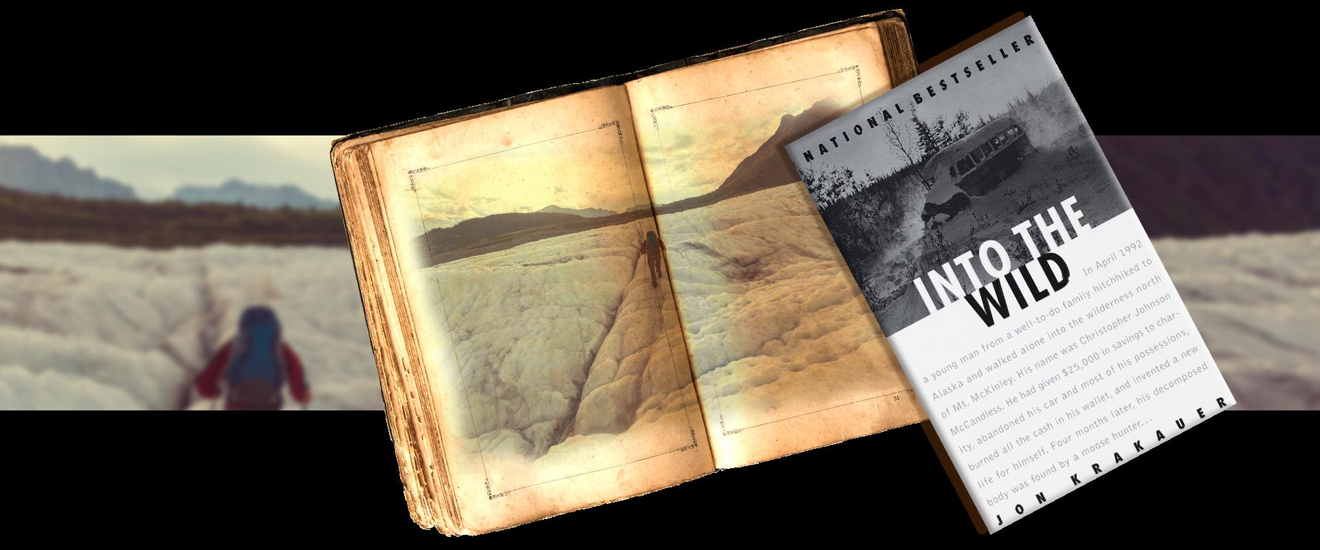 Into the wild by Jon Krakauer - vintage book - traveler into Alaskan wilderness