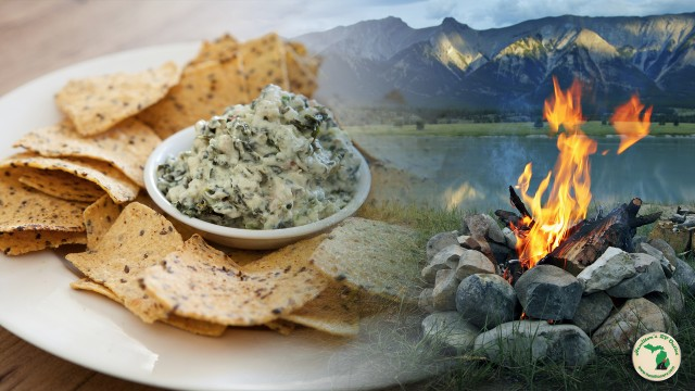 Tasty Campfire Made Spinach Dip!